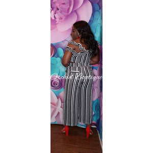 Kelly Black Stripe Pant Set - Orchid Boutique