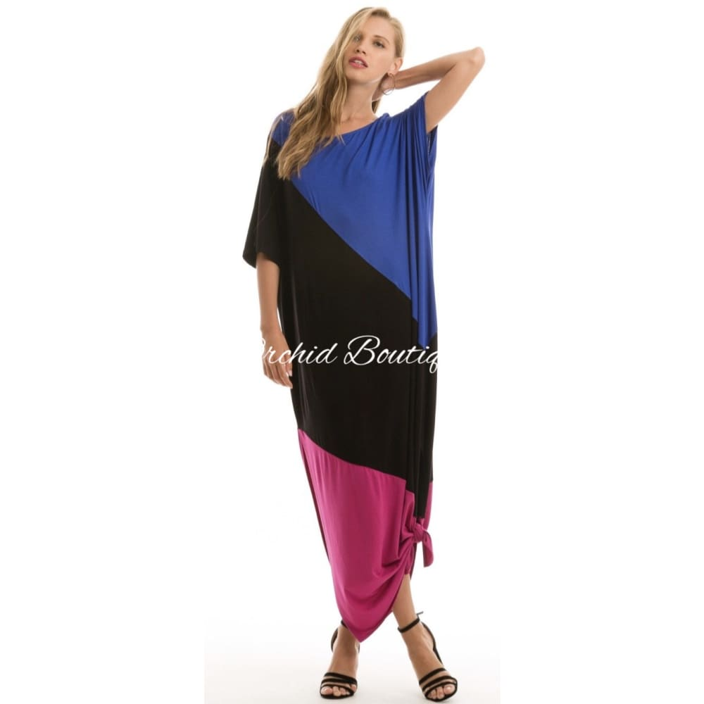 Kelsey Color Block Maxi Dress - Orchid Boutique