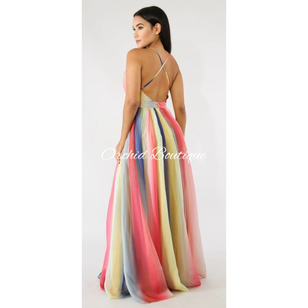 Lena Rainbow Maxi Dress - Orchid Boutique