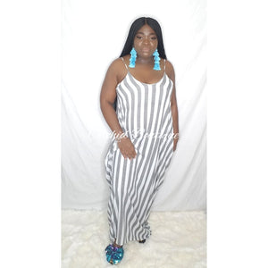 Lisa Black Stripe Maxi Dress - Orchid Boutique