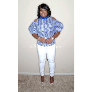 Lorraine Royal Gingham Shirt - Orchid Boutique