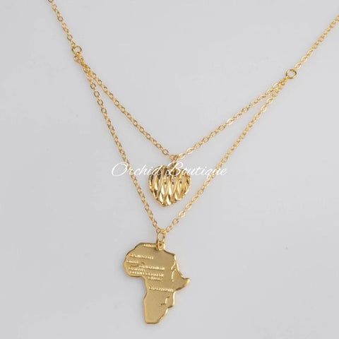 Love Africa Charm Necklace - Orchid Boutique