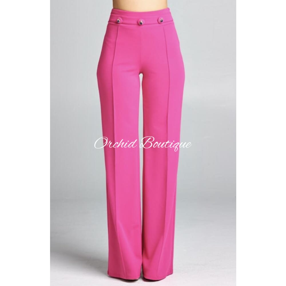 Mimi Jeweled Fuschia Luxe Pant - Orchid Boutique