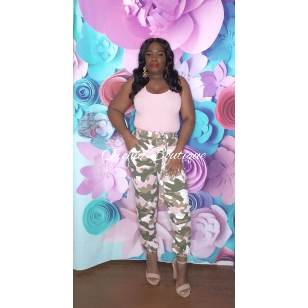 Mission Ready Pink Camo Pant - Orchid Boutique