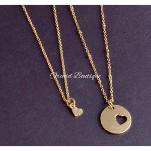 MommyandMe Goldtone Heart Set - Orchid Boutique