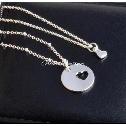MommyandMe Silvertone Heart Set - Orchid Boutique