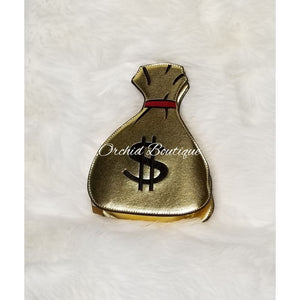 Money Gold Crossbody Bag - Orchid Boutique