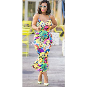 Monroe Faces Midi Dress - Orchid Boutique