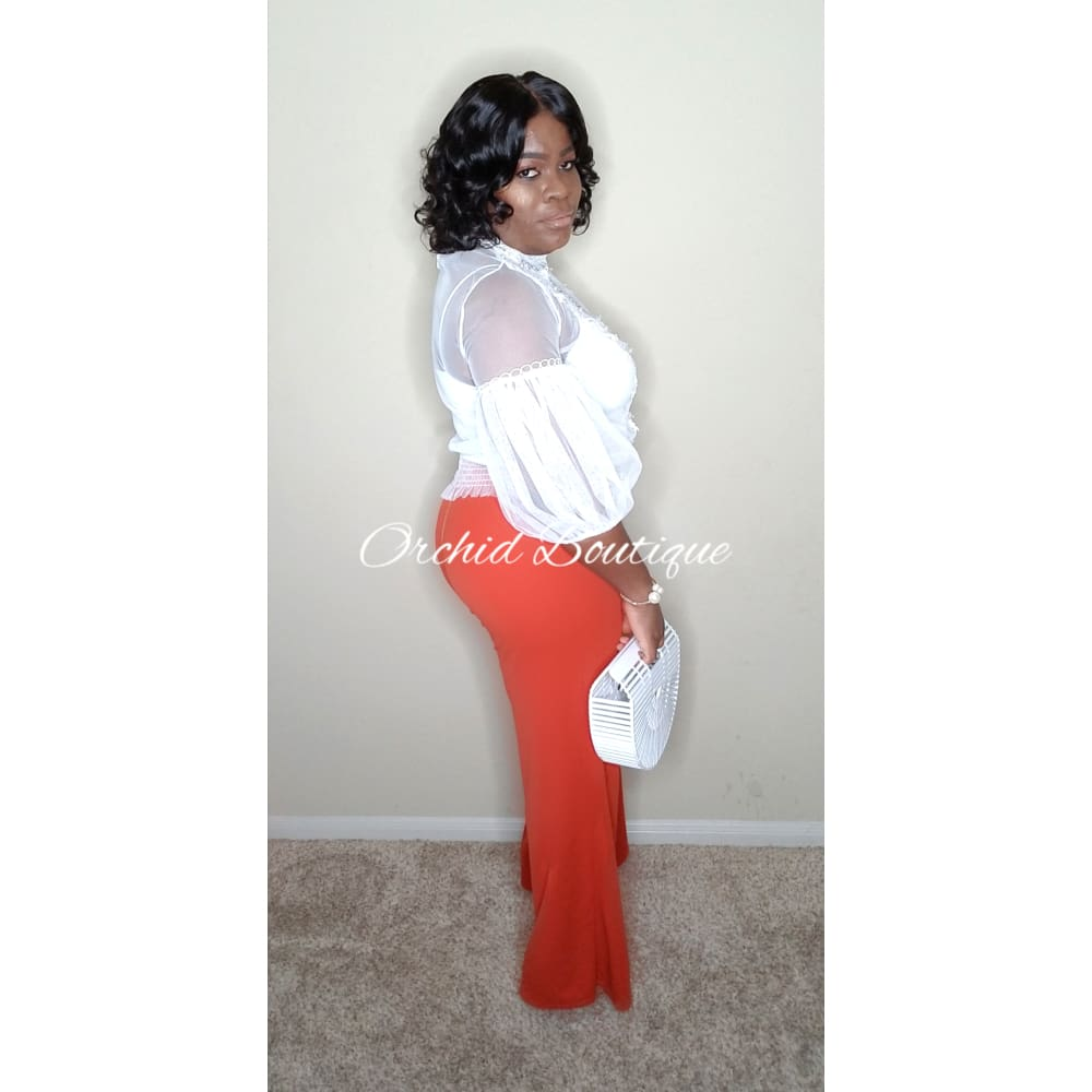 Nicole Rust Wide Leg Pant - Orchid Boutique