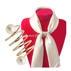 Pearl Scarf Holder - Orchid Boutique