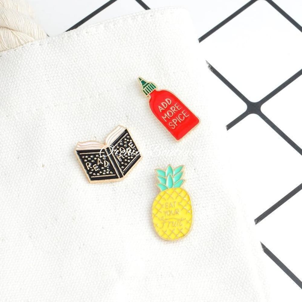 Pineapple Lapel Pin Accessories