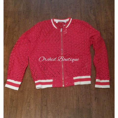 Poland Red Lace Bomber Jacket Jacket