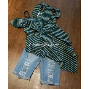 Polly Jade Stripe Blouse Blouse