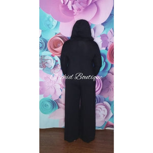 Robin Black Hooded Jumpsuit Jumpsuit