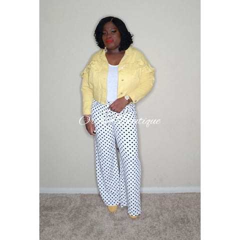 Robin Yellow Ruffles Jacket Jacket