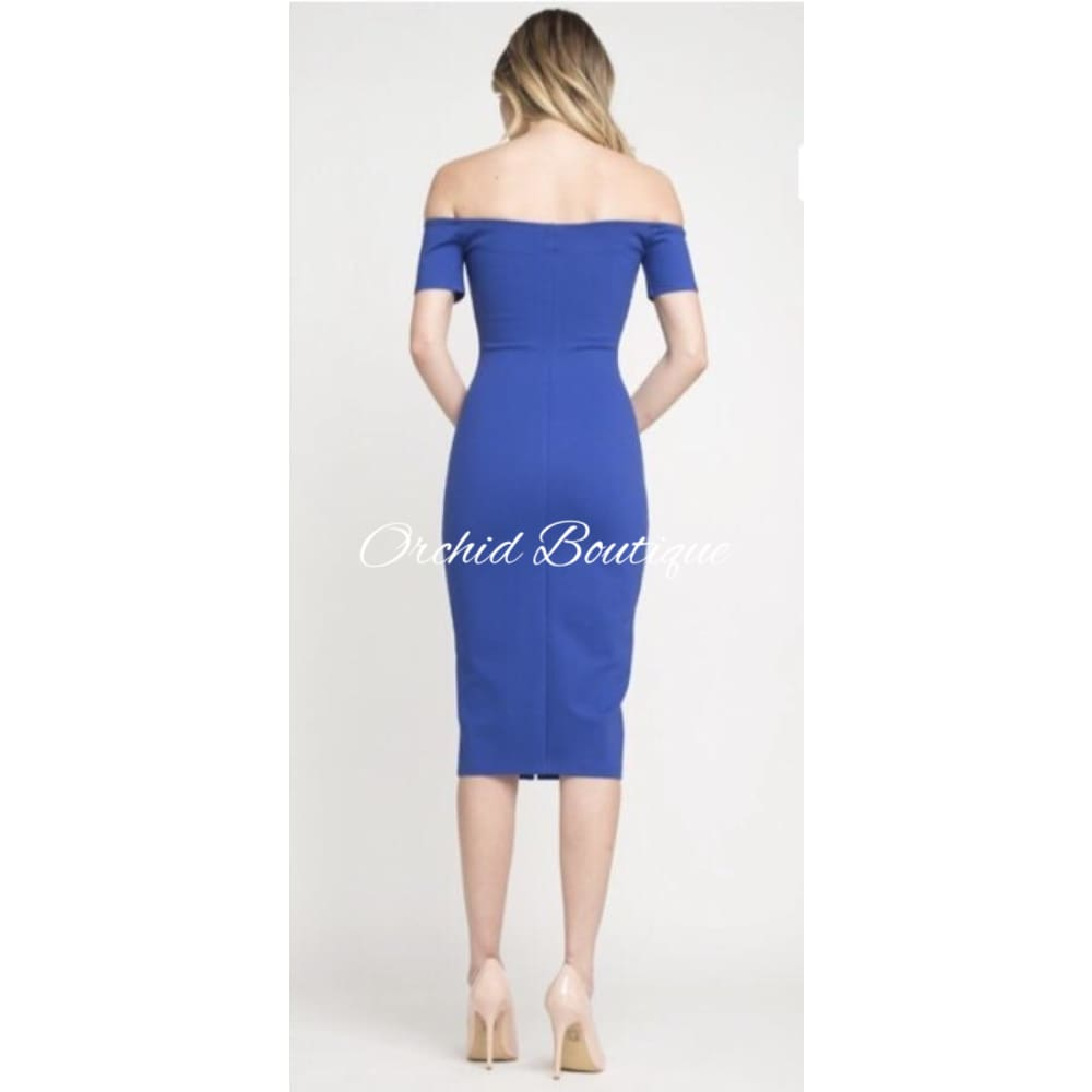 Roselyn Blue Midi Dress Dresses