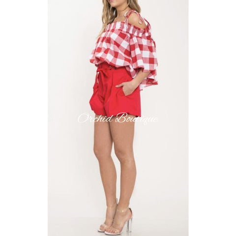 Rudy Red Plaid Short Set Short Set