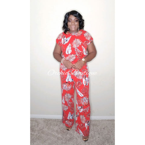 The Fifth Avenue Red Pant Set Pant Set