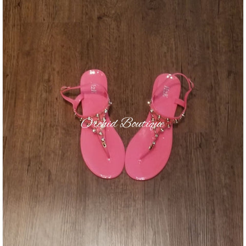 Tiara Pink Gummy Sandals Shoes