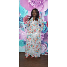 Load image into Gallery viewer, Tortola White Floral Maxi Dress Dresses