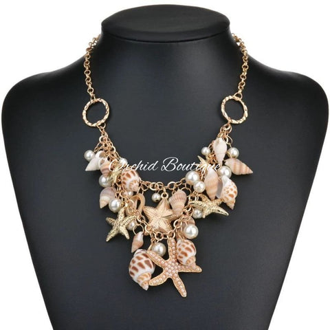 Uribe Sea Shells Necklace Jewelry
