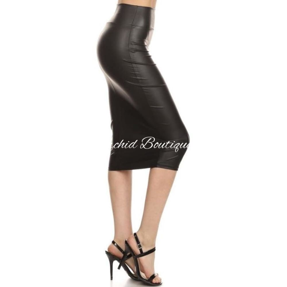 Val Black Slaytex Pencil Skirt Skirts