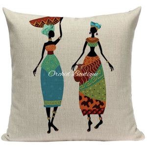 Women Walking Throw Pillow Cover Throw Pillow Covers