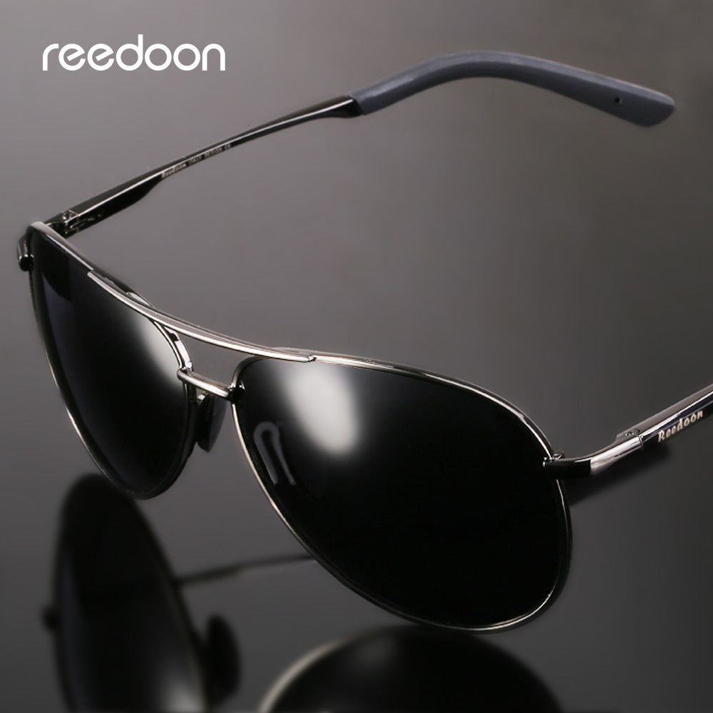 e62e9da998 Reedoon Polarized Sunglasses HD Lens UV Protection Metal Frame Vintage Sun  Glasses For Men Women Driving