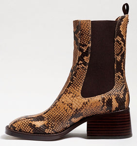 Dasha Chelsea Boot in Wheat Multi Snake