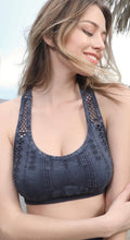 Vintage Denim Wash - Racer Back Bra Top