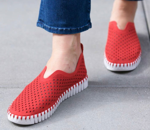 Red Tulip Slip On Sneaker