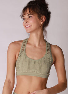 Vintage Green Tea - Racer Back Bra