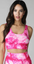 Bright Fuchsia Tie Dye Crop Top