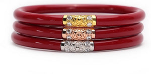 Red Three Kings Budha Girl Bangles