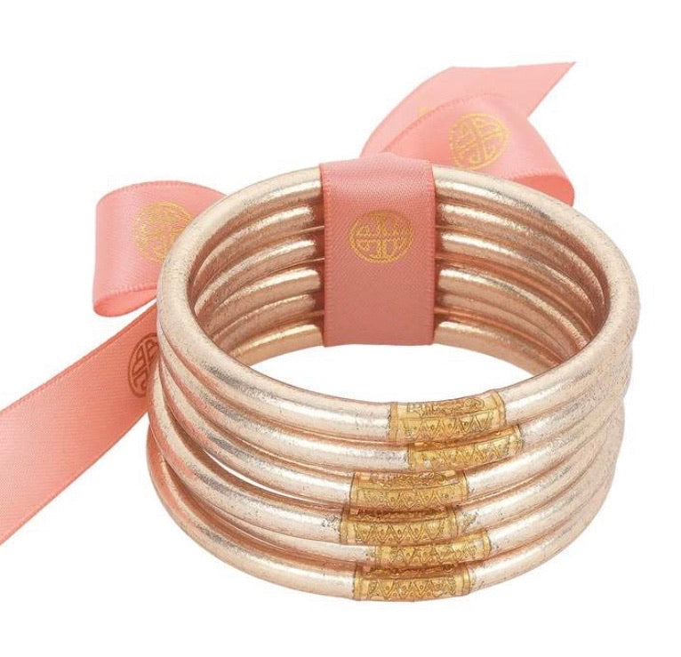 Champagne All Weather BudhaGirl Bangles