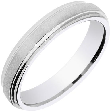HYPO-ALLERGENIC COBALT 5MM FLAT COURT SATIN FINISH RING - Penny Store Limited