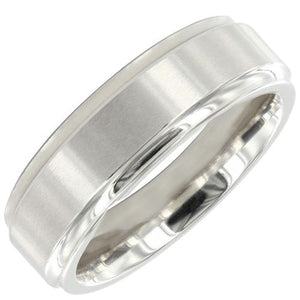 COBALT SATIN EFFECT 7MM FLAT COURT HYPO-ALLERGENIC RING - Penny Store Limited
