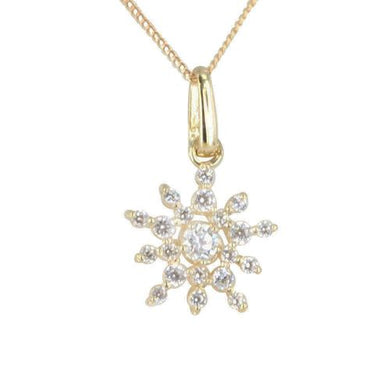 9CT GOLD SNOWFLAKE PENDANT - Penny Store Limited