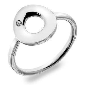 HOT DIAMONDS EMERGE OPEN CIRCLE STERLING SILVER RING DR159 - Penny Store Limited