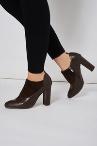 FAUX SUEDETTE LEATHERETTE BOOT WITH STITCHING DETAILS - Penny Store Limited