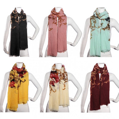 LADIES WINTER LARGE SOFT WARM WRAP NEW PEONY FLOWER SHAWL SCARF - Penny Store Limited