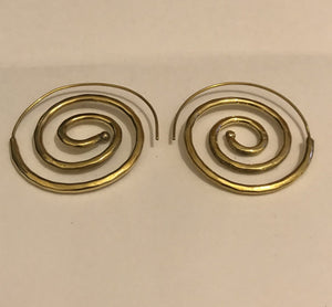 hand made spiral ear ring - Penny Store Limited