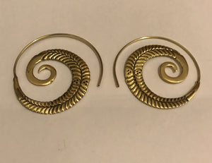 Brass spiral Ear Ring - Penny Store Limited