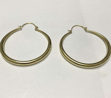 Brass round hoop ear rings - Penny Store Limited