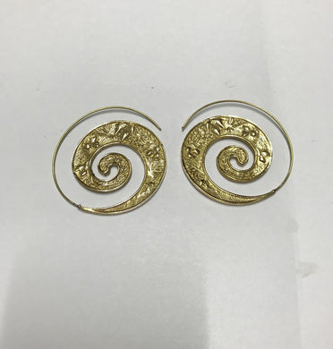 Brass spiral Ear rings - Penny Store Limited