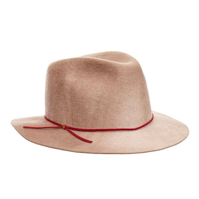 EUGENIA KIM Everett Beige Wide-Brimmed Wool-Felt Fedora Hat - Penny Store Limited