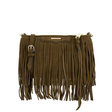 03291de3e REBECCA MINKOFF Finn Crossbody Green Fringe Bag - Penny Store Limited