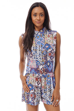 TRIBAL PRINT PLAYSUIT - Penny Store Limited