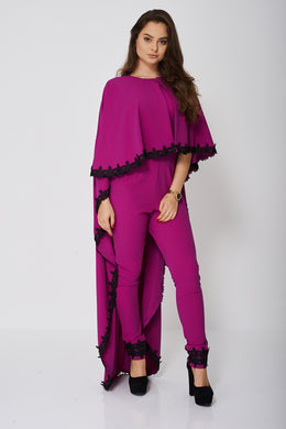 JUMPSUIT AND CAPE SET IN LIGHT PURPLE - Penny Store Limited
