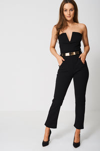 PEG LEG JUMPSUIT WITH BELT - Penny Store Limited